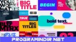 Videohive – Big Bold Titles | FCPX & Apple Motion