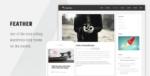Feather – Clean Flat Responsive WordPress Blog Tema