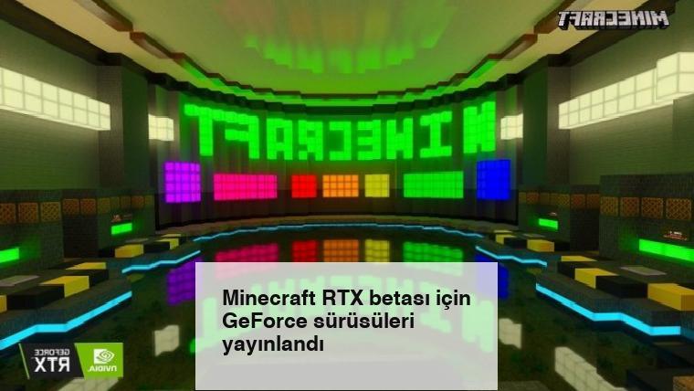 Minecraft RTX betası için GeForce sürüsüleri yayınlandı