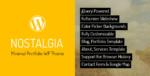 Nostalgia – Portfolio WordPress Tema