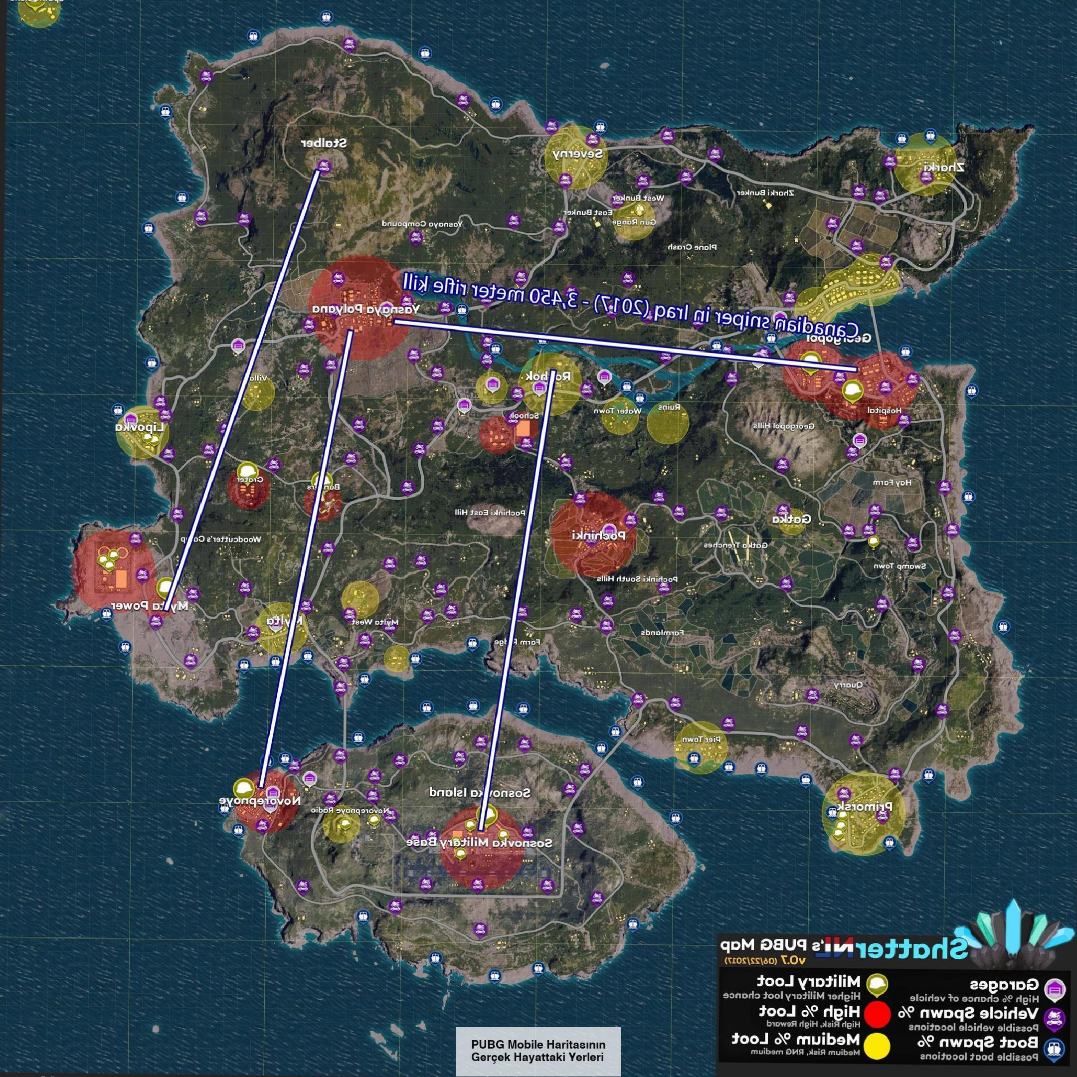 PUBG Mobile Haritasının Gerçek Hayattaki Yerleri