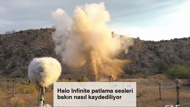 Halo Infinite patlama sesleri bakın nasıl kaydediliyor