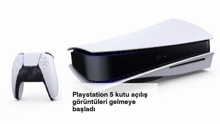 Playstation 5 kutu açılış görüntüleri gelmeye başladı