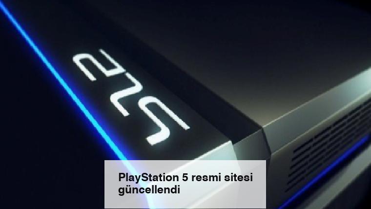 PlayStation 5 resmi sitesi güncellendi