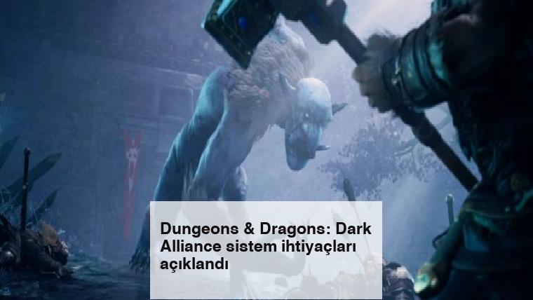 Dungeons & Dragons: Dark Alliance sistem ihtiyaçları açıklandı