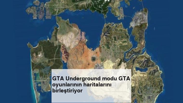 GTA Underground modu GTA oyunlarının haritalarını birleştiriyor