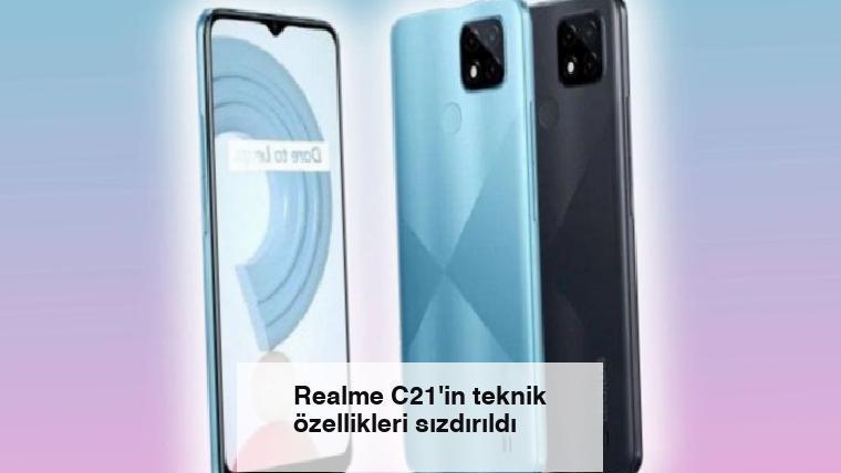 Realme C21'in teknik özellikleri sızdırıldı