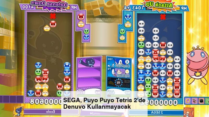 SEGA, Puyo Puyo Tetris 2'de Denuvo Kullanmayacak
