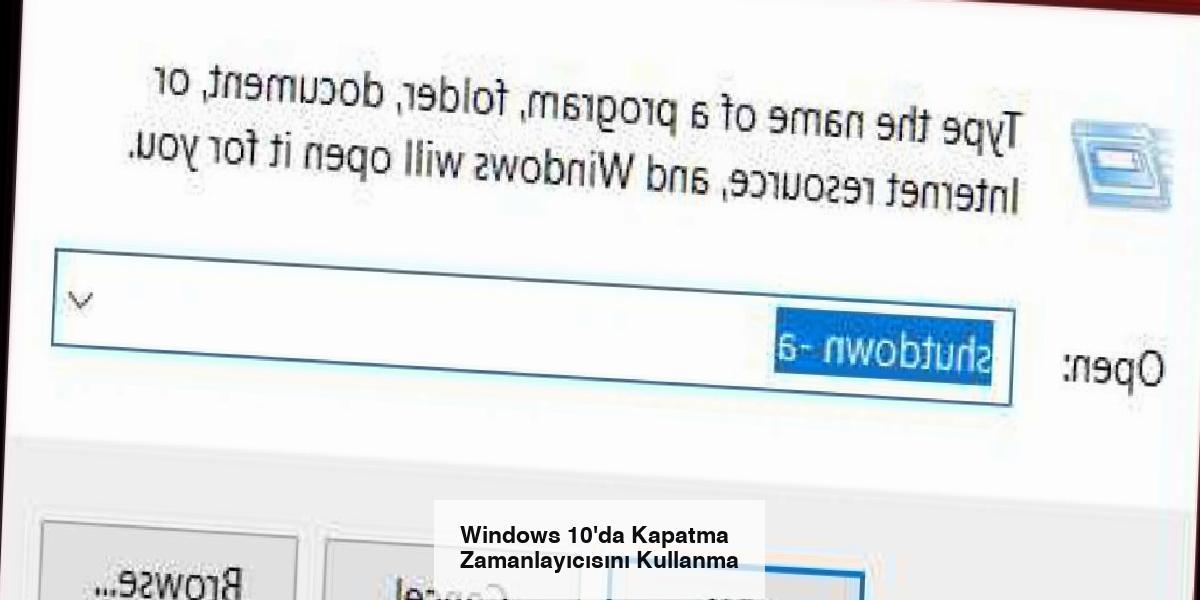 Windows 10'da Kapatma Zamanlayıcısını Kullanma